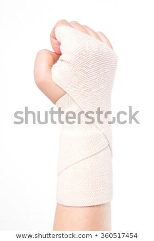 Kadın elastik bandaj çalışmak sağlık Stok fotoğraf © Traimak