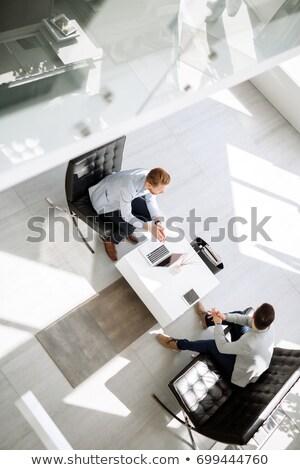 Negocios colegas lobby oficina moda diversión Foto stock © IS2