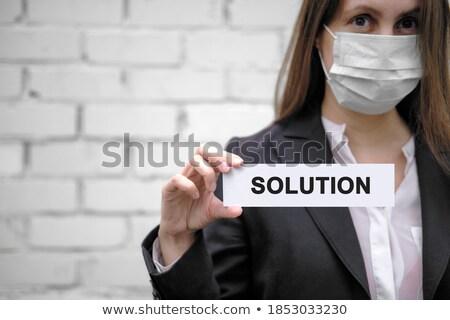 Investering raadpleging oplossingen witte muur business Stockfoto © tashatuvango