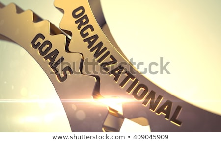 Organizational Goals on the Golden Metallic Cog Gears. Stock photo © tashatuvango