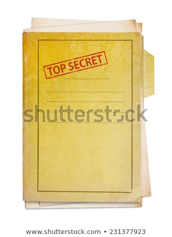 Stock photo: military top secret folder