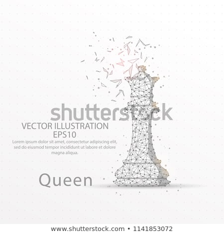 queen low poly stock photo © psychoshadow