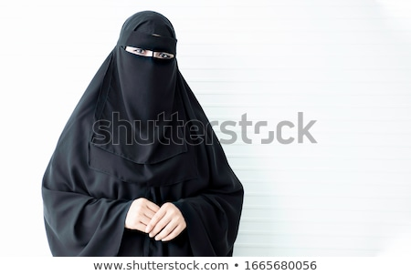 Gyönyörű szaúdi arab nő nő mosolyog arc Stock fotó © keeweeboy