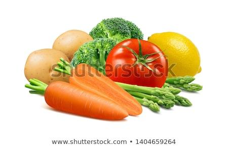 Brokkoli sárgarépa burgonyaleves pár tálak házi készítésű Stock fotó © mpessaris