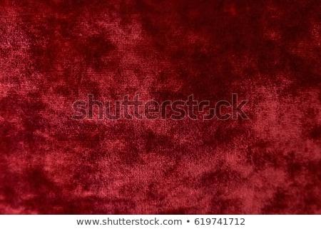Piros bársony textúra közelkép kilátás szövet Stock fotó © LightFieldStudios