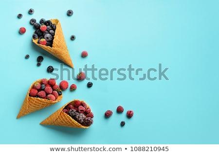 berries in waffle cones stock photo © yuliyagontar