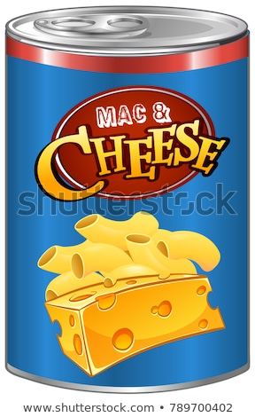 Mac and cheese in aluminum can Stock photo © bluering