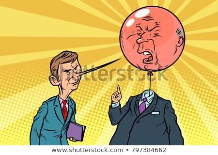 сердиться · Cartoon · взрыв · иллюстрация · глядя · энергии - Сток-фото © rogistok