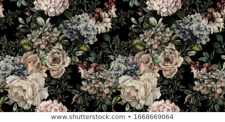 Floral leaf and flower seamless pattern. Abstract oriental floral background Stock photo © Terriana