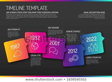 Vector Infographic horizontal timeline template made from arrow bubbles and icons Stock photo © orson