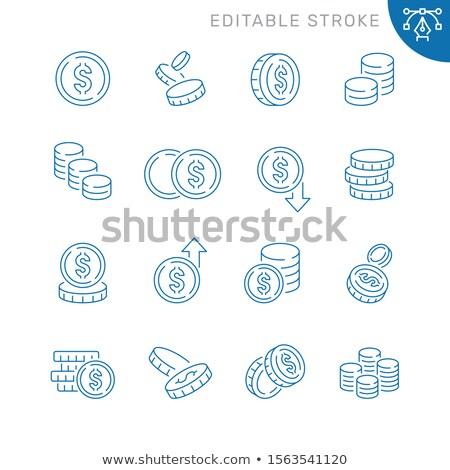 Loan Money Icon. Thin Line Vector Illustration Stock photo © smoki