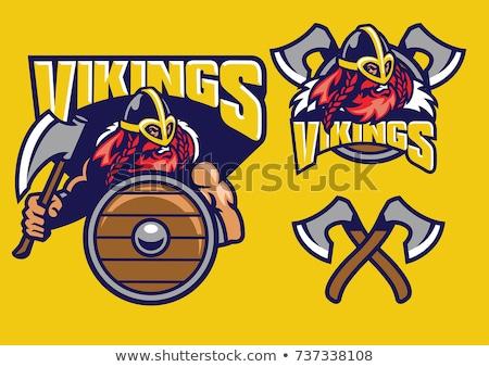 Viking guerreiro mascote gladiador esportes Foto stock © Krisdog