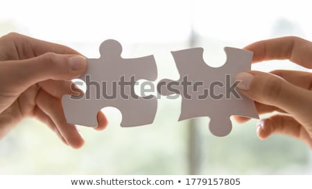 Team hold jigsaw pieces Stock photo © IS2