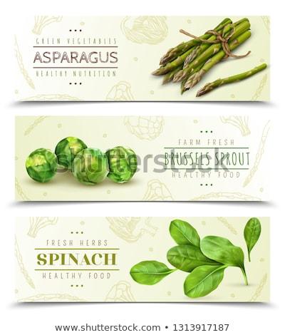 Vettore asparagi isolato bianco fresche verde Foto d'archivio © freesoulproduction