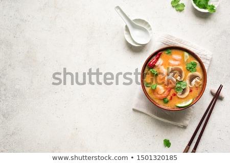 辛い · スープ · 卵 · カップ · フライド · パン - ストックフォト © fisher