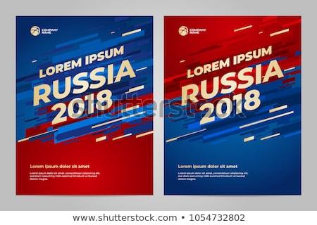 russia soccer cup 2018 sign Illustrator. design graphic Stock photo © alexmillos