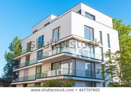 Modern townhouses seen in Berlin Stock photo © elxeneize