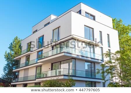 Modern townhouses seen in Berlin Stock photo © elxeneize