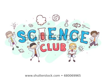 laboratorium · kinderen · illustratie · kinderen · spelen · school · kind - stockfoto © bluering