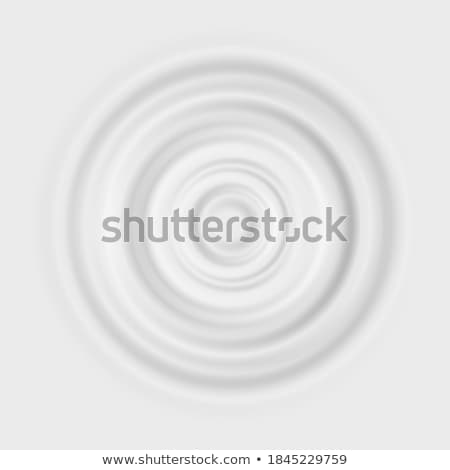 milk splash vector cream clean circle waves falling drop realistic illustration stock photo © pikepicture