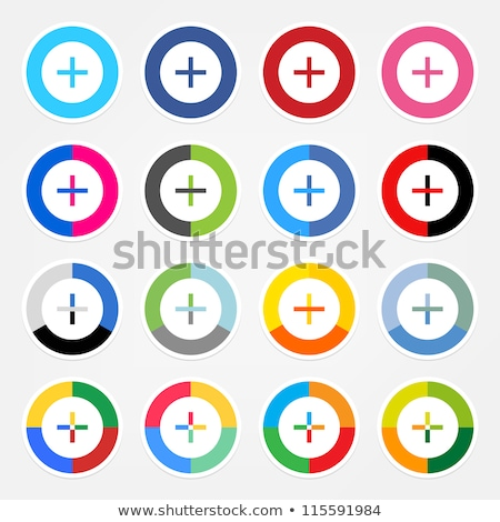 Plusz jel vektor háló alkotóelem körkörös gomb Stock fotó © rizwanali3d