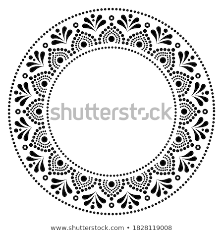 mandala vector art australian dot painting decorative design aboriginal folk art bohemian style stock photo © redkoala