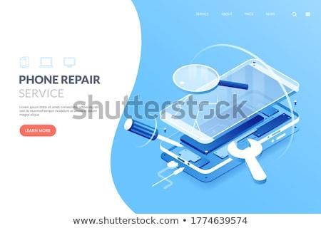Handy Schraubendreher elektronischen Karten Telefon Werkzeuge Stock foto © OleksandrO