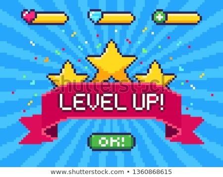 уровень вверх вектора ретро игры иллюстрация Сток-фото © Macartur888