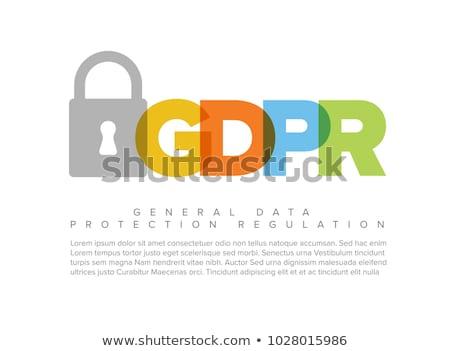 Európai szórólap sablon illusztráció digitális zár Stock fotó © orson