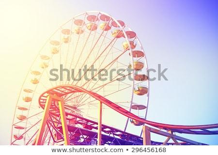 Retro carrousel pretpark dynamisch momentopname shot Stockfoto © bezikus