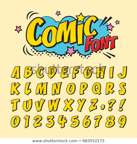 Stockfoto: Comic Retro Font Set Alphabet Letters Number In Style Of Comics Pop Art For Title