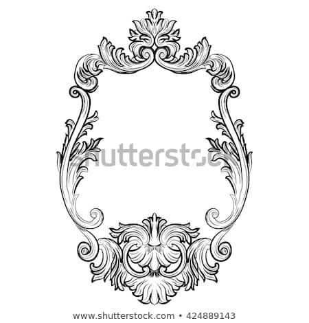 Barroco marcos establecer decoración detallado ricos Foto stock © frimufilms