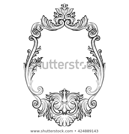 Baroque frames set decor. Detailed rich ornamented Stock photo © frimufilms