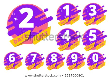 number of days left badge or label design Stock photo © SArts