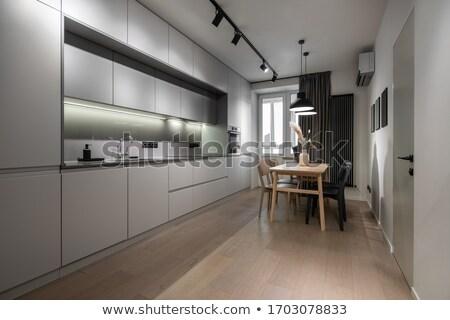 modern · tv · durmak · duvar · dizayn · oda - stok fotoğraf © bezikus