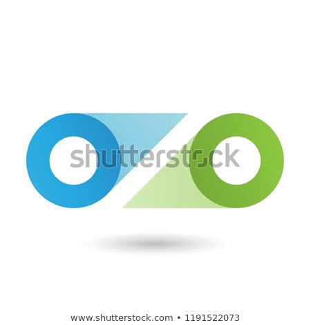 blue and green double letter o vector illustration stock photo © cidepix