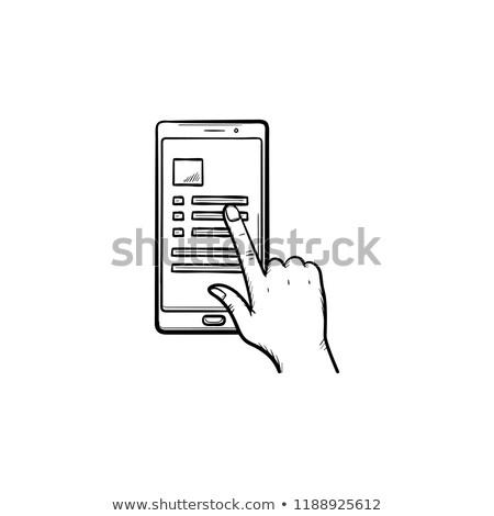 verificar · rabisco · ícone - foto stock © rastudio