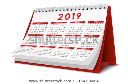 2019 year. Calendar for October. Isolated 3D illustration Stock photo © ISerg