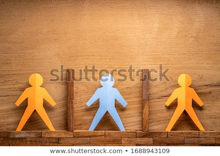 Human Figure Separated By Block Stock photo © AndreyPopov