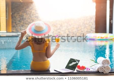 moda · plaj · gülümseme · mutlu - stok fotoğraf © artfotodima