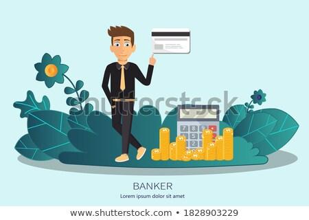 Banqueiro profissão financeiro ícone projeto fundo Foto stock © makyzz