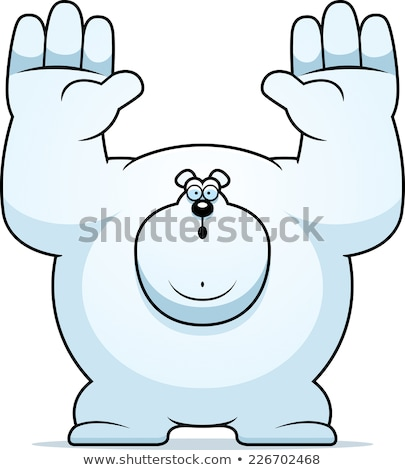 Cartoon Polar Bear Surrender Stock photo © cthoman