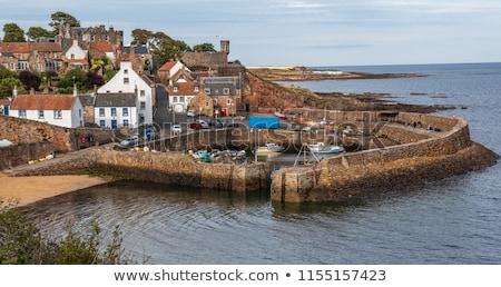 釣り 村 海岸 スコットランド 建物 旅行 ストックフォト © lightpoet