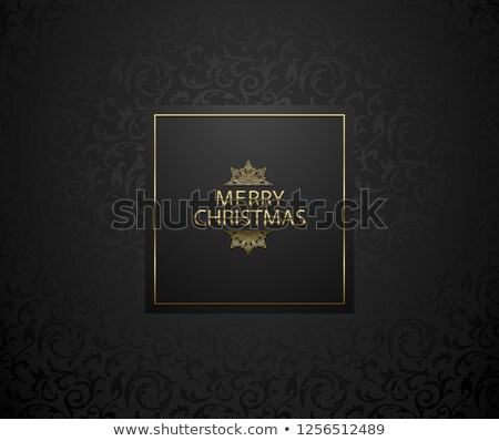 Рождества черный цветочный шаблон элегантный премия Сток-фото © Iaroslava