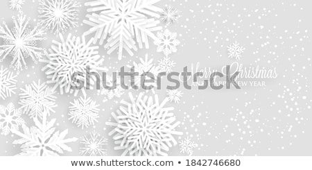 blue paper cut merry christmas background vector illustration stock photo © cidepix