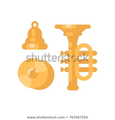 Ayarlamak parlak altın müzik aletleri çan trompet Stok fotoğraf © IvanDubovik