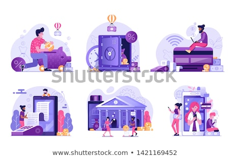 bank receiving transaction vector illustration stock photo © robuart