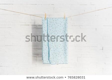 Tricoté couverture bébé enfant lavage ligne Photo stock © Lopolo
