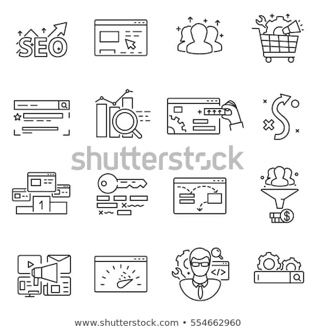 SEO Optimization Increase Conversion Set Vector Stock photo © robuart