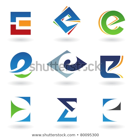 letter e red green blue icon vector Stock photo © blaskorizov